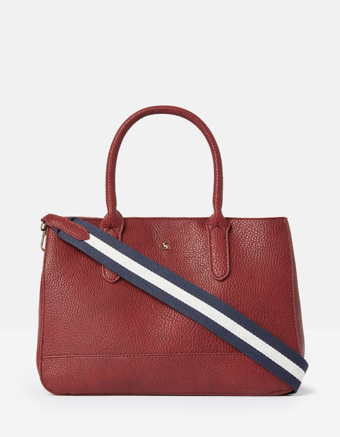Joules-Thernwell-Bright-Faux-Leather-Grab-Bag-MORE-COLOURS miniature 14